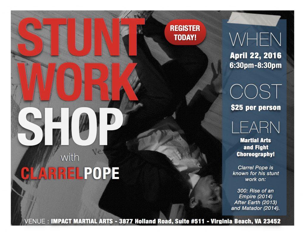 Stunt Workshop Clarrel Pope 2016 flip